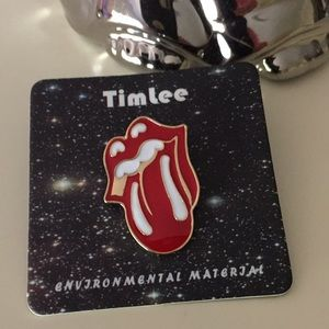 Jewelry - NEW Rolling Stones lips tongue pin